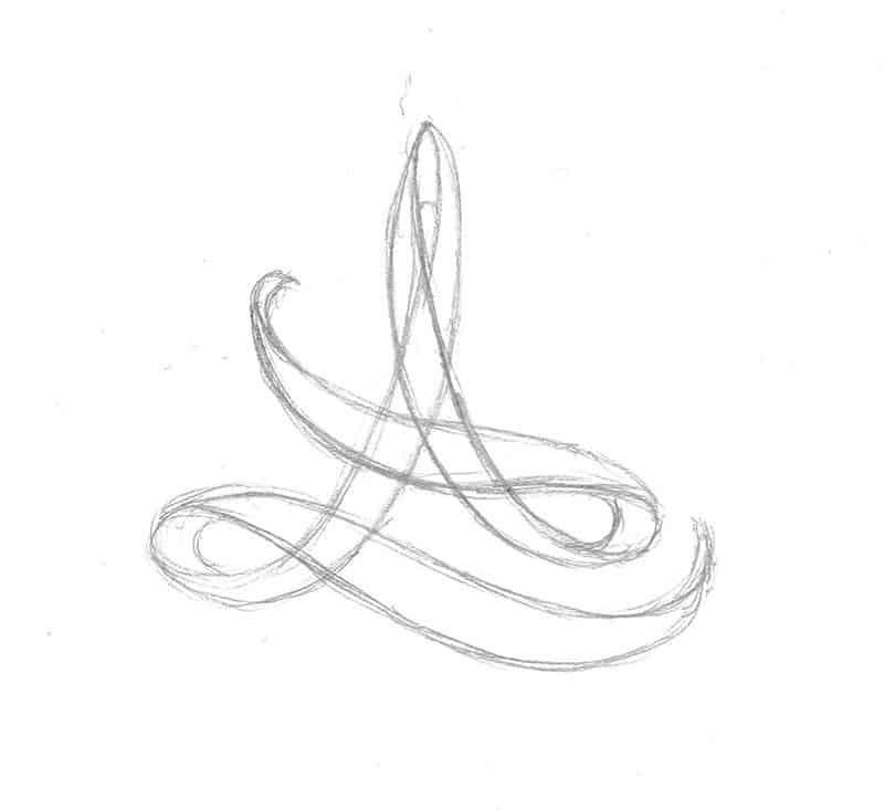 Grobes Scribble der Bildmarke