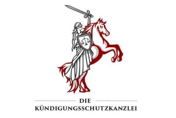 Logo Design Die Kündigungsschutzkanzlei in Originalfarben