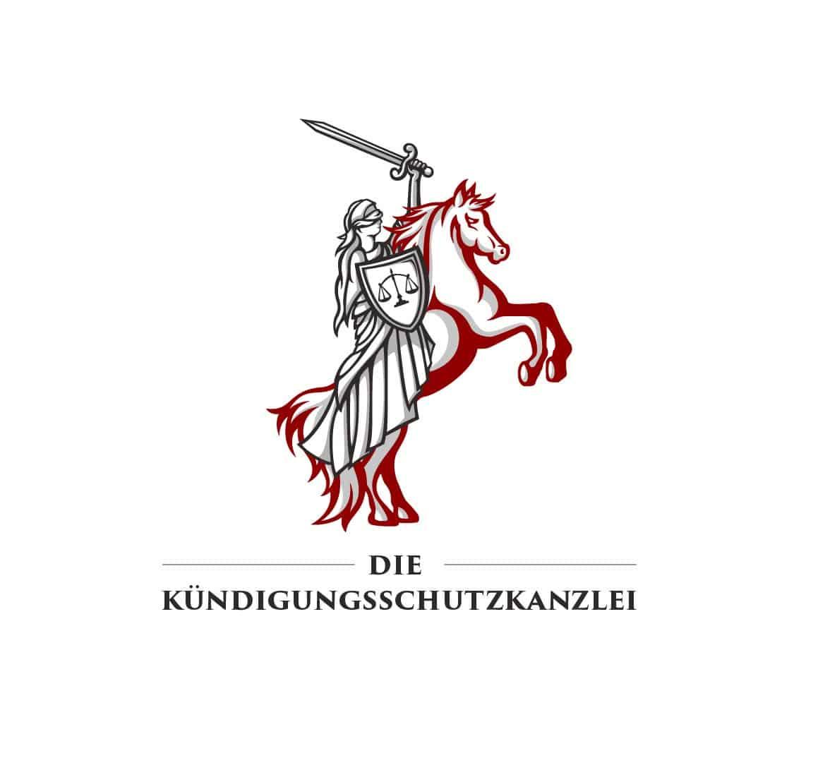 Logo Design Die Kündigungsschutzkanzlei in Originalfarben, Logodesigner Andrea Baitz, Logo Design aus Eckernförde