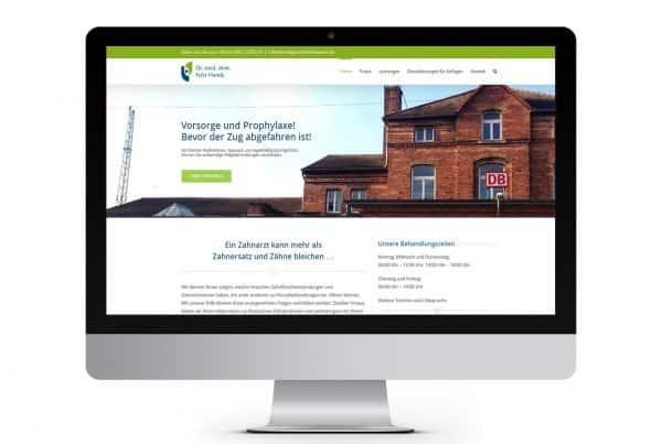 Webseite, Webdesign Praxis Dr. Felix Handy, Zahnarzt, Waren (Müritz)