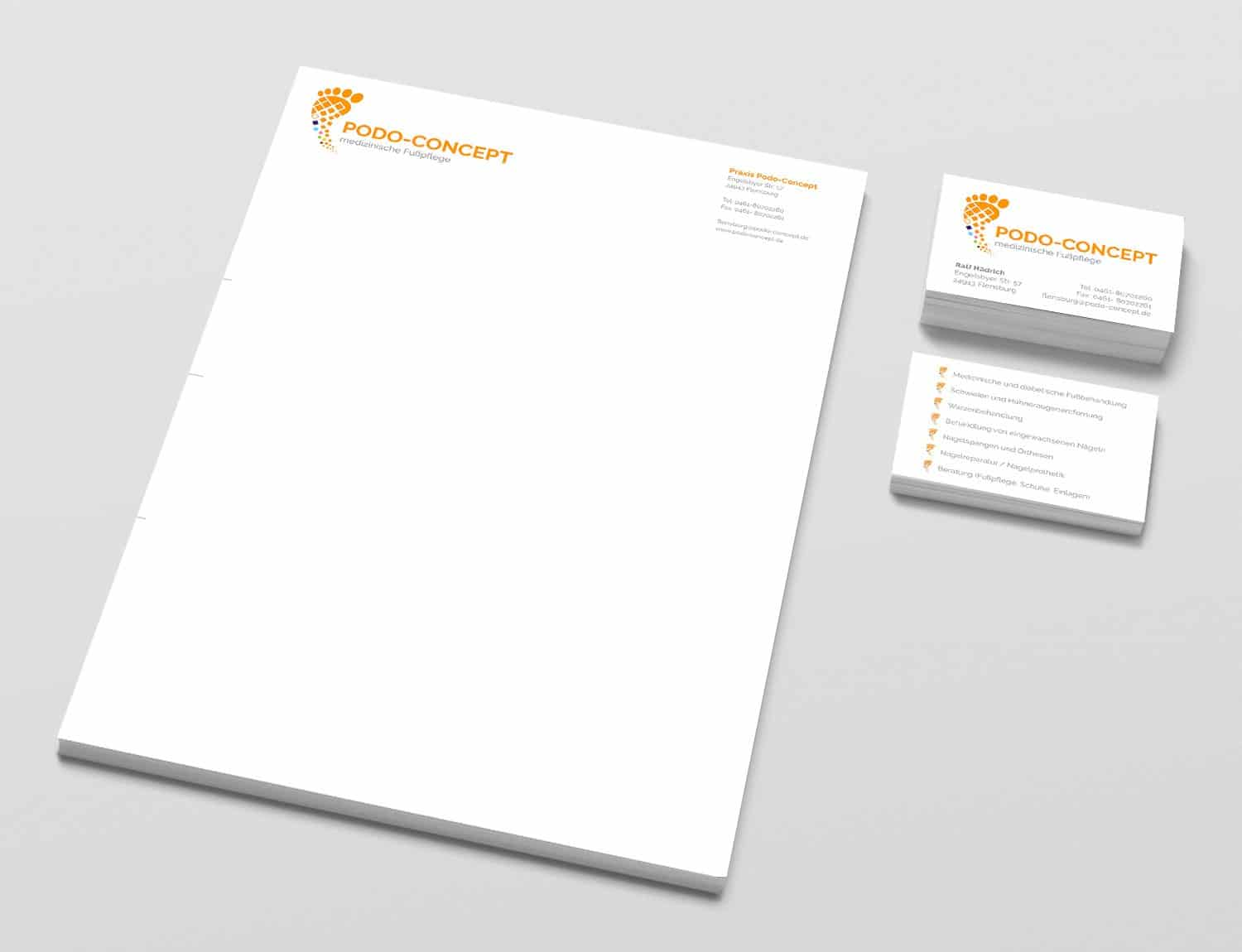 Corporate Design Podo-Concept
