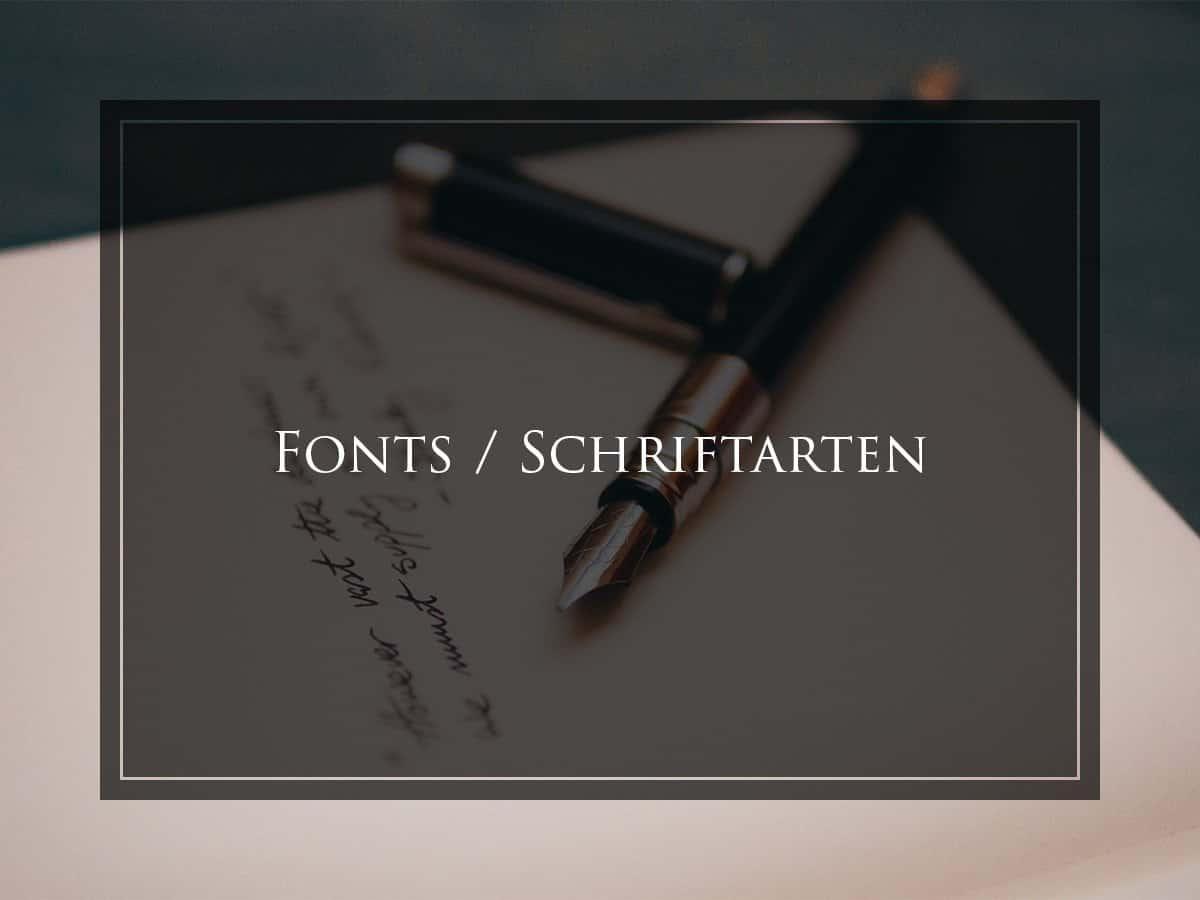 Fonts, Schriftarten, free fonts, kostenlose Schriftarten, kostenlose Schriften, Schriftschnitte, Font Websites