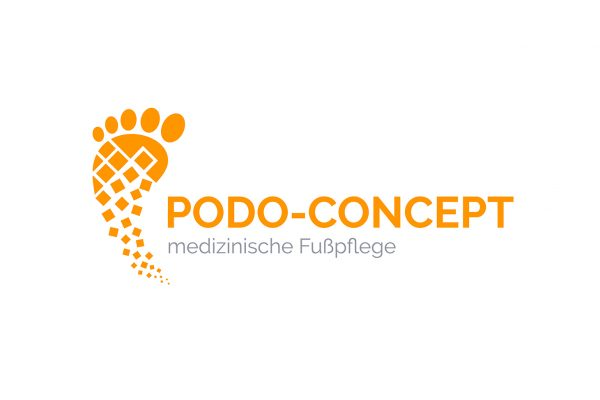 Logo Design Podo-Concept in einfarbig orange