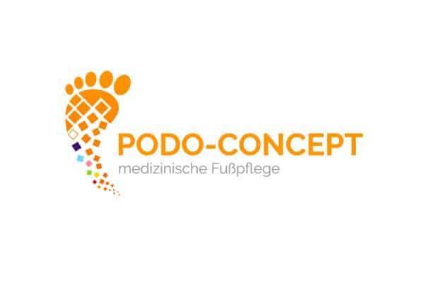 Logo Design Podo-Concept, Logo Design Dessau-Roßlau, Logo Designer Andrea Baitz, Sachsen-Anhalt, Leipzig, Magdeburg, Halle