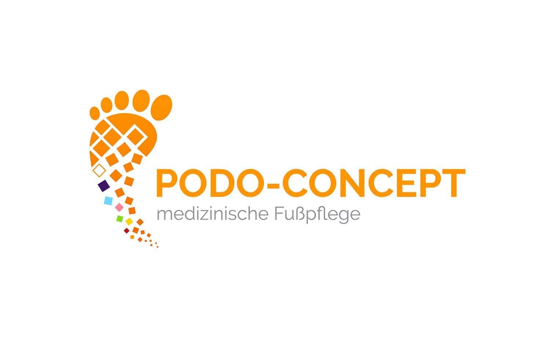 Logo Design Podo-Concept in farbverlauf orange
