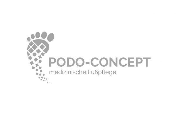 Logo Design Podo-Concept in grau
