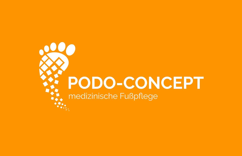 Logo Design Podo-Concept in weiß