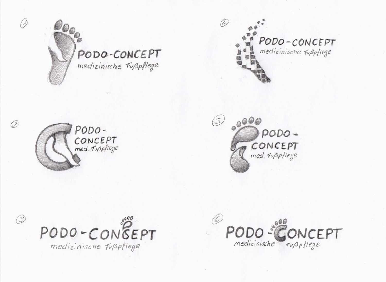 Podo-Concept Logo Entwürfe
