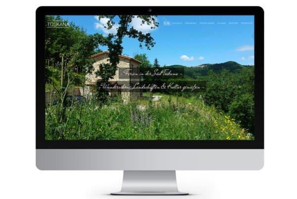 Webdesign Toskana Ferienhaus, Süd-Toskana, Toscana, Urlaub Toskana, Webseite, Webdesign aus Dessau, Webdesigner Andrea Baitz