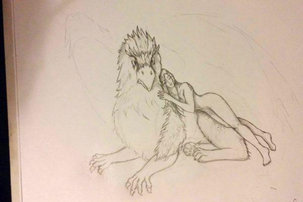 04_Illustration_Zeichnung_Gryphon_Lady