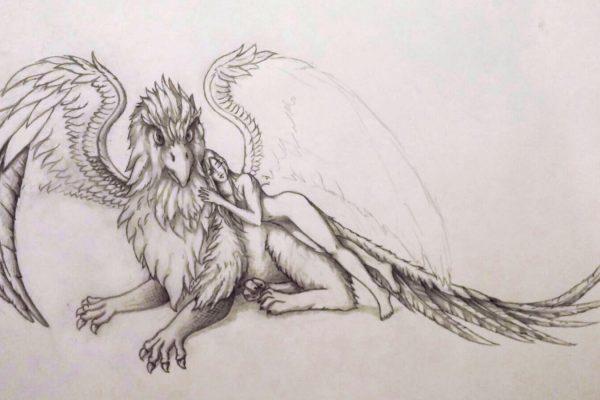 07_Illustration_Zeichnung_Gryphon_Lady