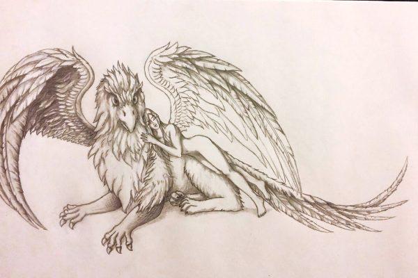 08_Illustration_Zeichnung_Gryphon_Lady