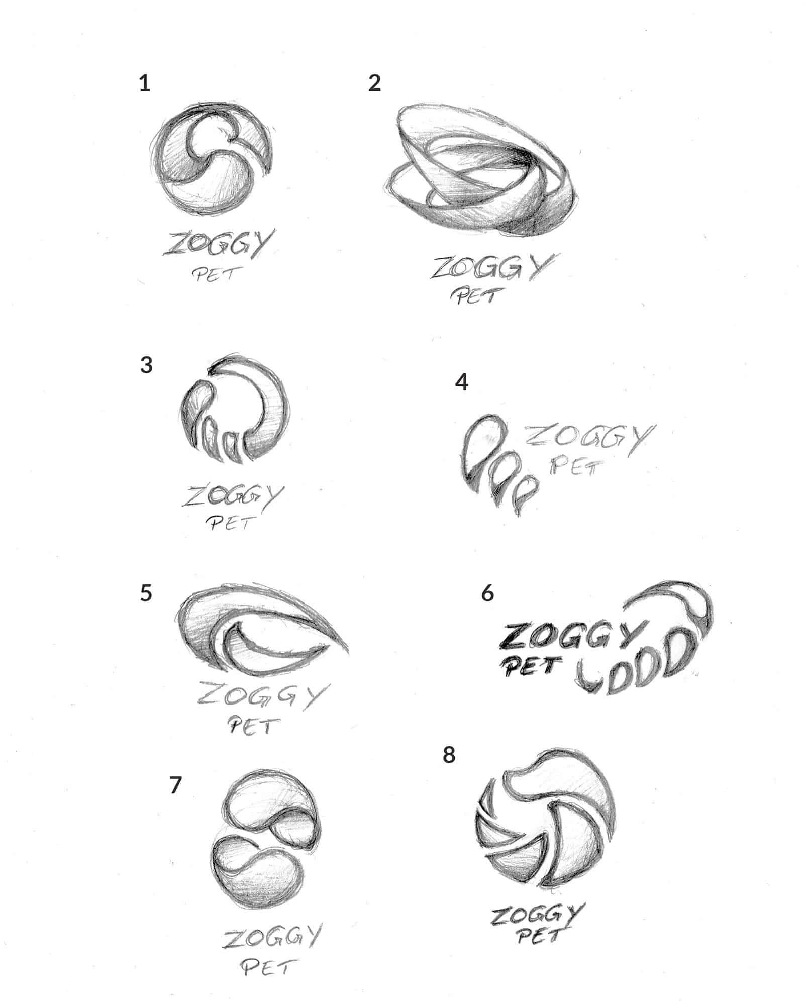 Zoggy Logo Design grobe Skizzen