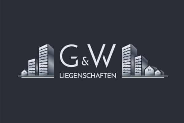 Logo Design Hell G&W Liegenschaften Berlin, Logo Designer Andrea Baitz, Dessau, Sachsen-Anhalt, Leipzig, Magdeburg, Halle