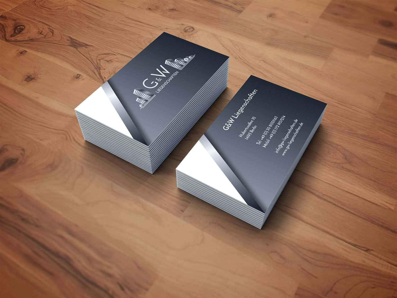 Visitenkarten Design / Business Card G&W Liegenschaften Berlin