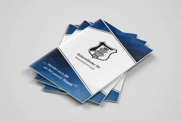 ESV Eckernförder Sportverein, Printdesign, Broschüre, Broschure, Sponsorenmappe, Design / Printdesign aus Eckernförde, Schleswig-Holstein, Raum Kiel, Rendsburg, Eckernförde, Andrea Baitz, Grafikdesigner