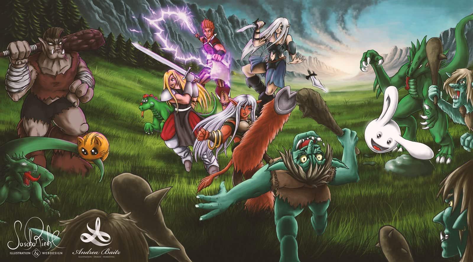 Die Große Schlacht - Illustration von Andrea Baitz und Sascha Riehl