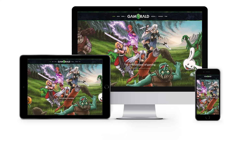 Webdesign und Webseitenerstellung Gamerald, Gamestudio aus Norderstedt, Nähe Hamburg