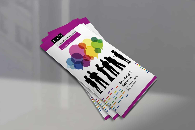 Flyer Design, Grafikdesign, Printdesign, Flyer erstellen lassen, IC CAU Kiel, Designer, Grafikerdesigner Andrea Baitz aus Eckernförde, Raum Rendsburg, Kiel, Schleswig-Holstein, Flensburg, Hamburg