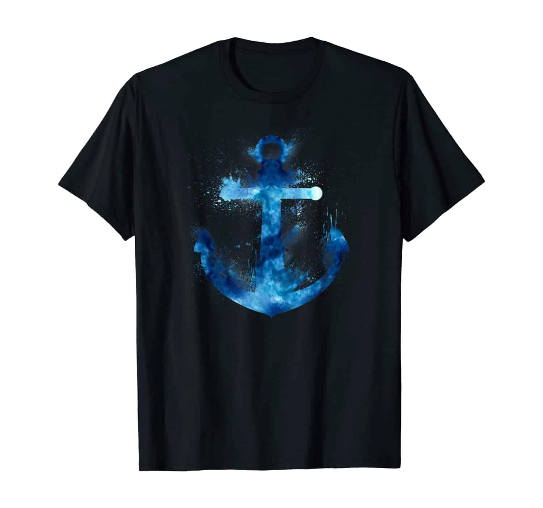 Anker T-Shirt, Anker Design, Kapitäne, Segler, Seefahrer, Bootsfahrer, Marine Fans, Küsten Fans, Küstenkinder, Nordlichter, Segelbekleidung, Geschenkidee, Geschenk, T-Shirt Design, T-Shirt Motiv, urlaub, Ostsee, Nordsee, Zeit am Meer