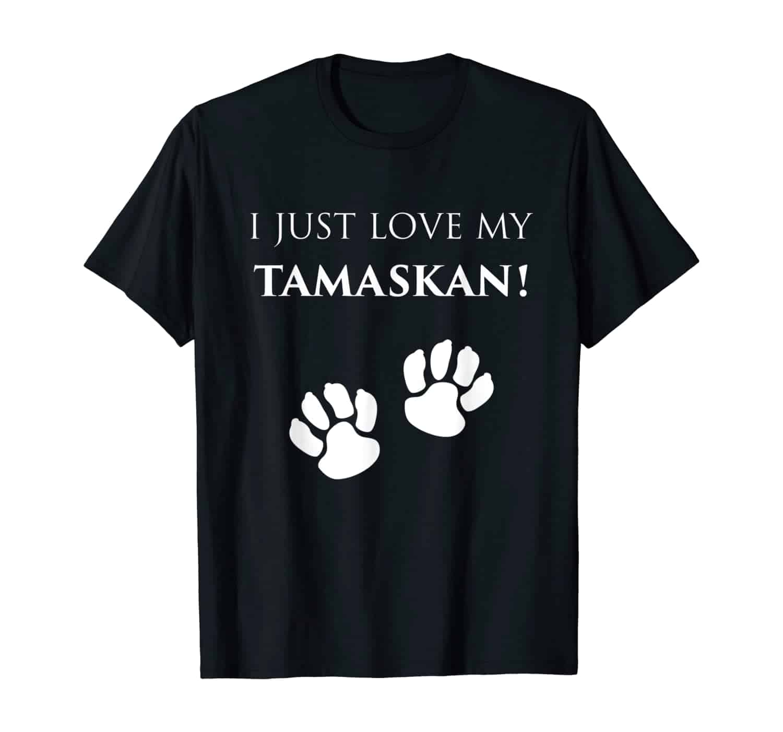 Hund Tamaskan T-Shirt, Wolf, Pfoten, Tamaskan Besitzer, Pfoten Design, Tamaskan Fan, Tamaskan Züchter, Hundezüchter, Wolf Fan, Hundebesitzer, Hundetrainer, Tamaskan Liebhaber, Tamaskan Pfoten, Geschenk, Geschenkidee, T-Shirt Design