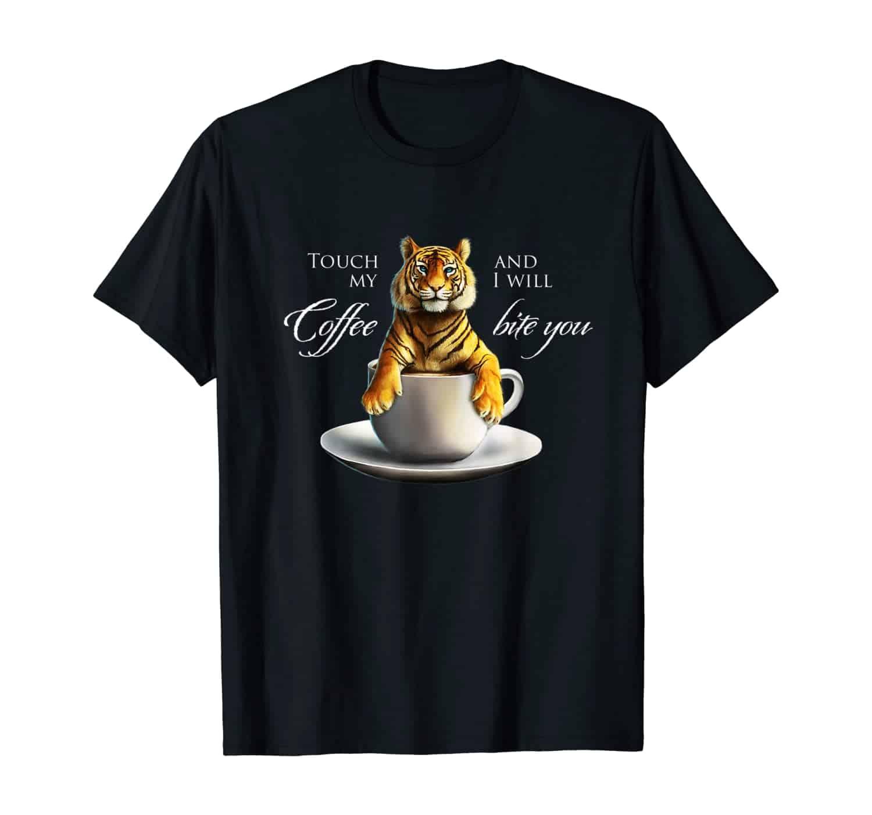 Tiger, Katze, Großkatze, Kaffee Trinker, Kaffee Liebhaber, Morgenmuffel, Kaffeetrinker, Kaffee Spruch T-Shirt Design