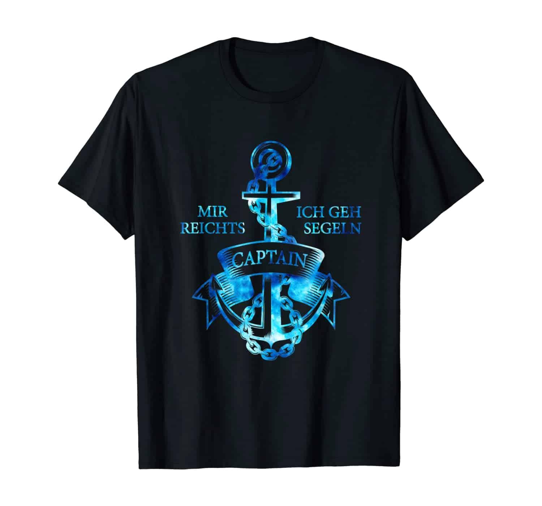 Kapitän, Anker T-Shirt, Anker Design, Kapitäne, Segler, Seefahrer, Bootsfahrer, Marine Fans, Küsten Fans, Küstenkinder, Nordlichter, Segelbekleidung, Geschenkidee, Geschenk, T-Shirt Design, T-Shirt Motiv, urlaub, Ostsee, Nordsee, Zeit am Meer